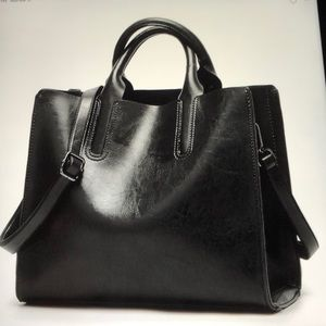 Handbags - Black Leather Handbag